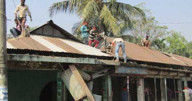 দখলমুক্ত হলো নকলার পাঠাকাটা বাজারের সরকারি সম্পত্তি